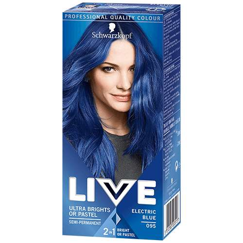 Schwarzkopf Live Ultra Brights or Pastel Electric Blue 095