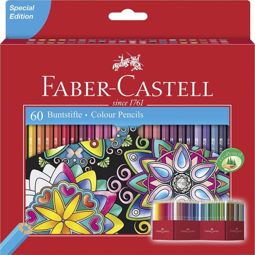 Faber-Castell Colour Pencils (Pack of 60) 111260